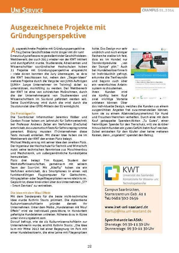 ChampusUniSaarland_Ausgabe_1-2014